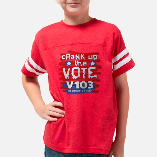 crankupthevote copy Youth Football Shirt