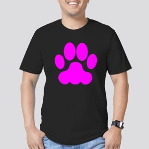 Pink Big Cat Paw Print T-Shirt