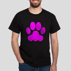 Pink Big Cat Paw Print T-Shirt