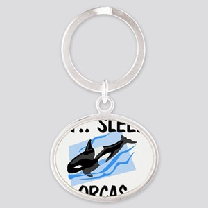 ORCAS4149 Oval Keychain