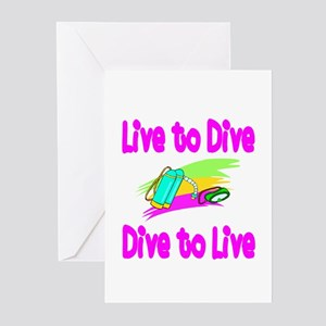 Live to Dive Greeting Cards (Pk of 10)