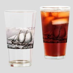 Cod fishing-off Newfoundland - 1872 Drinking Glass