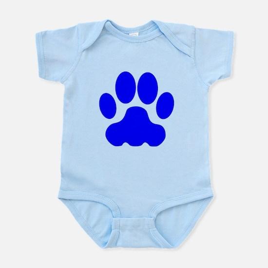 Blue Big Cat Paw Print Body Suit