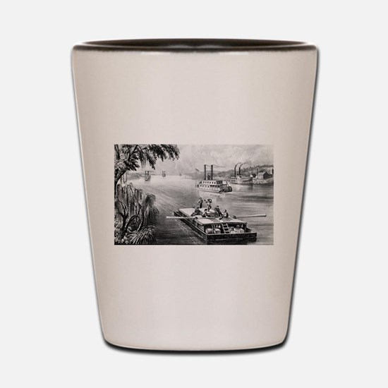 Bound down the river - 1870 Shot Glass