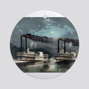 A midnight race on the Mississippi - 1890 Round Or