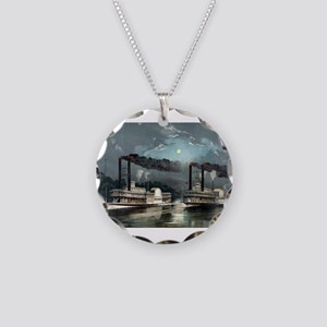 A midnight race on the Mississippi - 1890 Necklace