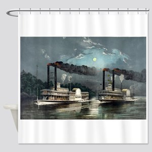 A midnight race on the Mississippi - 1890 Shower C