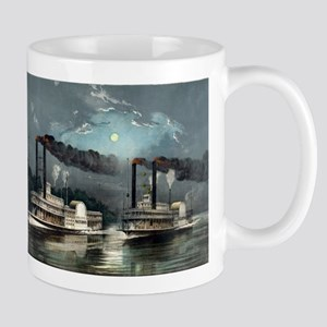 A midnight race on the Mississippi - 1890 Mugs