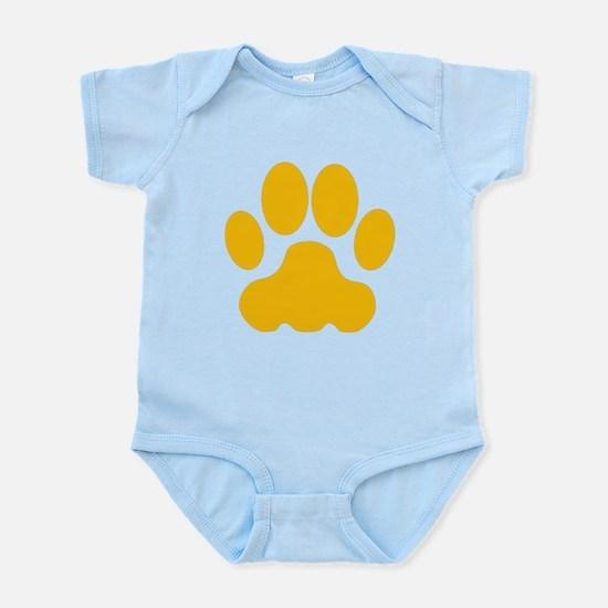 Orange Big Cat Paw Print Body Suit