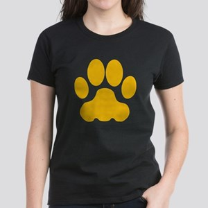 Orange Big Cat Paw Print T-Shirt