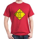 Dangerous Curves Sign Red T-Shirt