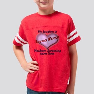 Living Proof daughter blue 4- Youth Football Shirt