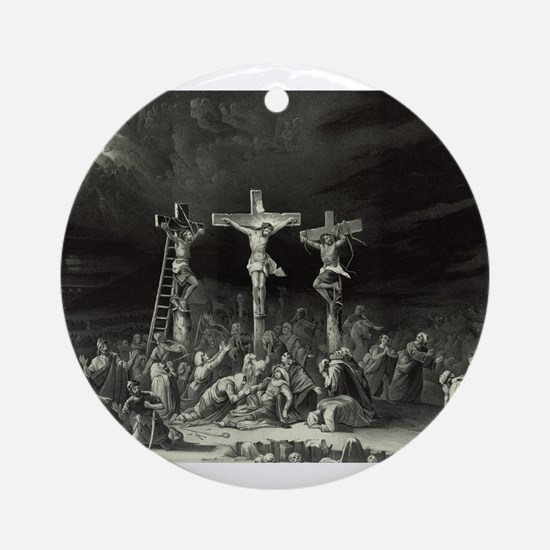 The Crucifixion - 1849 Round Ornament