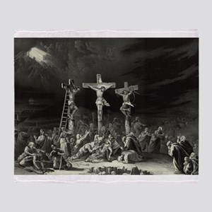 The Crucifixion - 1849 Throw Blanket