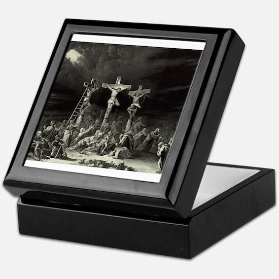 The Crucifixion - 1849 Keepsake Box