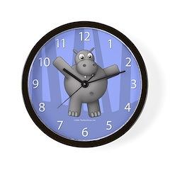 New Blue Hippo Clock
