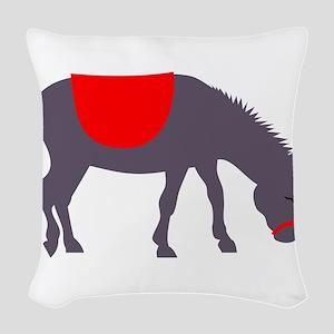 Donkey Woven Throw Pillow