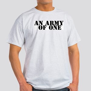 AN ARMY OF ONE Ash Grey T-Shirt