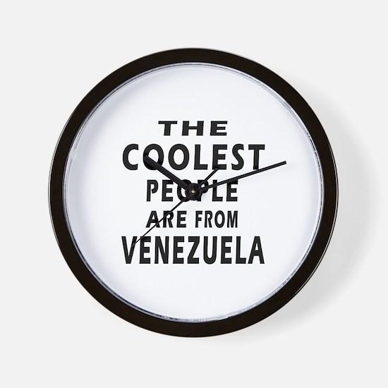 The Coolest Venezuela Design Wall Clock