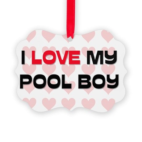 POOL-BOY132 Picture Ornament
