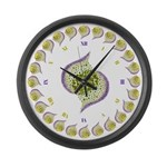 Paths of Color [GP] Large Wall Clock