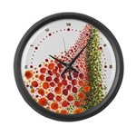 Paths of Color [R.O.G.] Large Wall Clock
