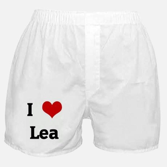 I Love Lea Boxer Shorts