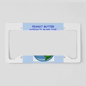 peanut butter License Plate Holder
