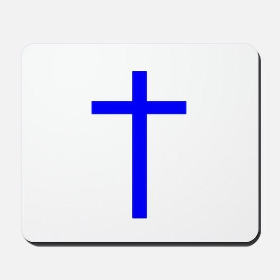 Blue Cross Mousepad