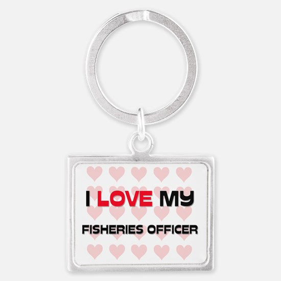 FISHERIES-OFFICER131 Landscape Keychain