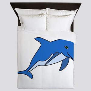 Blue Dolphin Queen Duvet