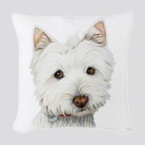 Cute West Highland White Terrier Dog Woven Throw P