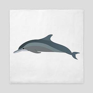 Grey Dolphin Queen Duvet