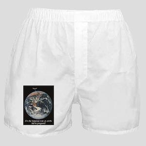 Pregnant - happiest man Boxer Shorts