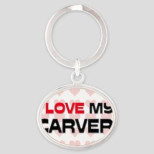 CARVER31 Oval Keychain