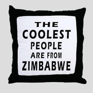 The Coolest Zimbabwe Design Throw Pillow