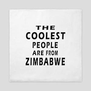 The Coolest Zimbabwe Design Queen Duvet