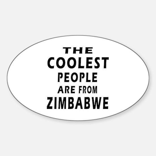 The Coolest Zimbabwe Design Sticker (Oval)