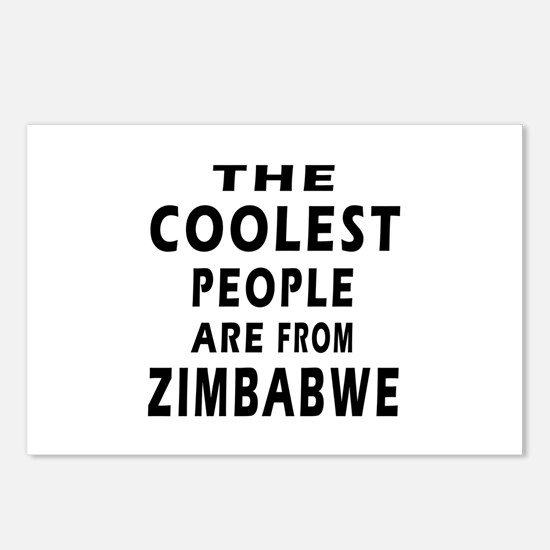 The Coolest Zimbabwe Design Postcards (Package of