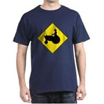 Tractor Crossing Sign Blue T-Shirt