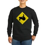 Tractor Crossing Long Sleeve Black T-Shirt