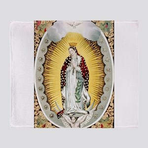 our lady of Guadalupe - 1848 Throw Blanket