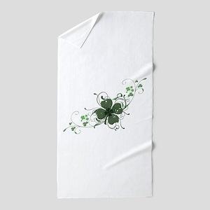Elegant Shamrock Design Beach Towel