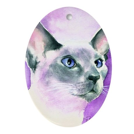 Siamese Oval Ornament