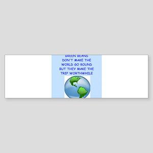 green beans Bumper Sticker