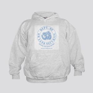Om Land Security Kids Hoodie (Lt Blue logo)