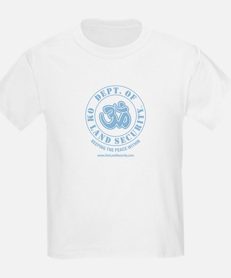Om Land Security Kids T-Shirt (Lt Blue logo)