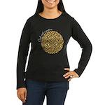 Circle with pattern Long Sleeve Dark T-Shirt