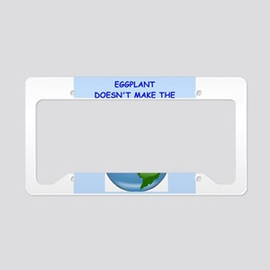 eggplant License Plate Holder
