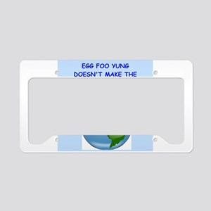 egg fu young License Plate Holder